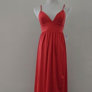 Red Urban Outfitters Maxi Dress w/ Tulip Skirt